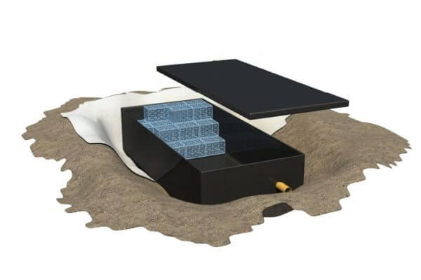 Impermeable Liner for Attenuation - Landflex AS Shoebox - Heavy Shallow 50 Cubic Metre