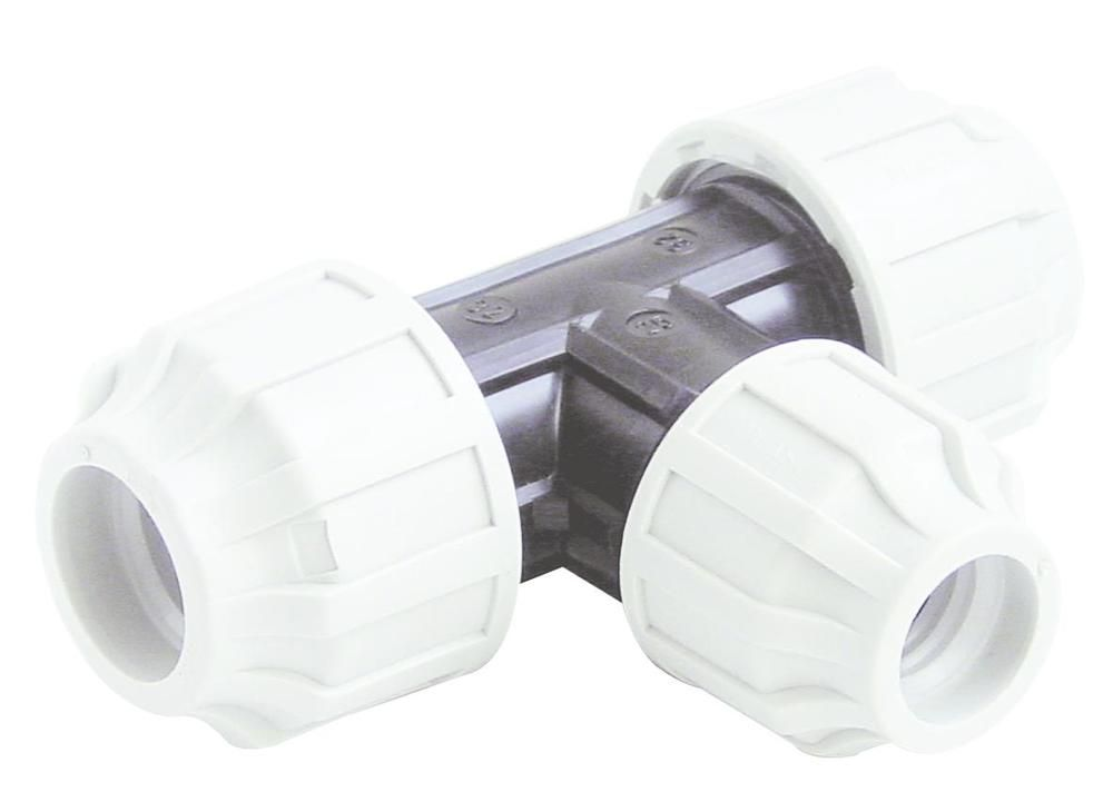 MDPE Tee Centre Reducing - 50mm x 32mm
