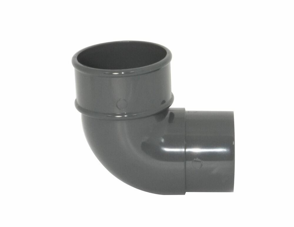 Round Downpipe Bend - 92.5 Degree x 68mm Anthracite Grey