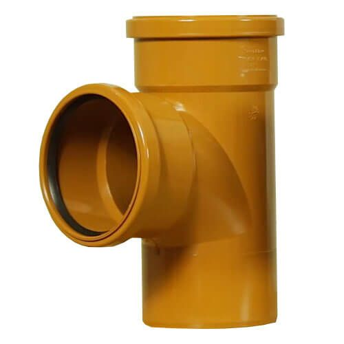 Drainage Junction Double Socket - 87.5 Degree x 110mm