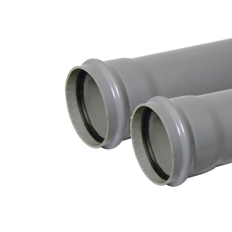 Ring Seal Soil Pipe Single Socket - 110mm x 3mtr Grey - Pack of 2