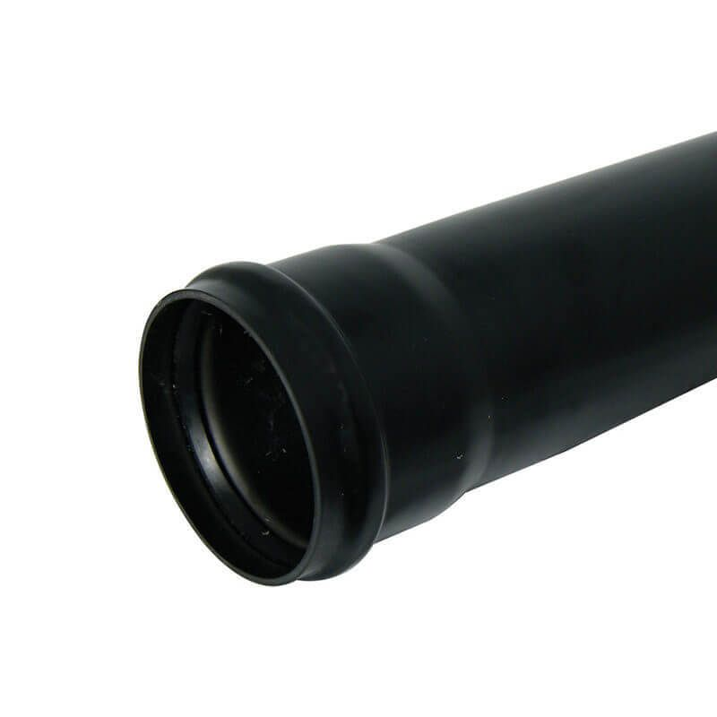 Ring Seal Soil Pipe Single Socket - 110mm x 1mtr Black