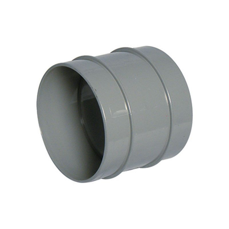 Solvent Weld Soil Coupling Double Socket - 110mm Olive Grey