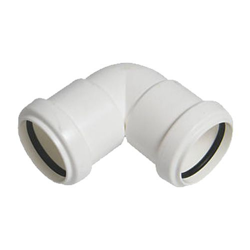 Push Fit Waste Bend Knuckle - 90 Degree x 32mm White - Pack of 25