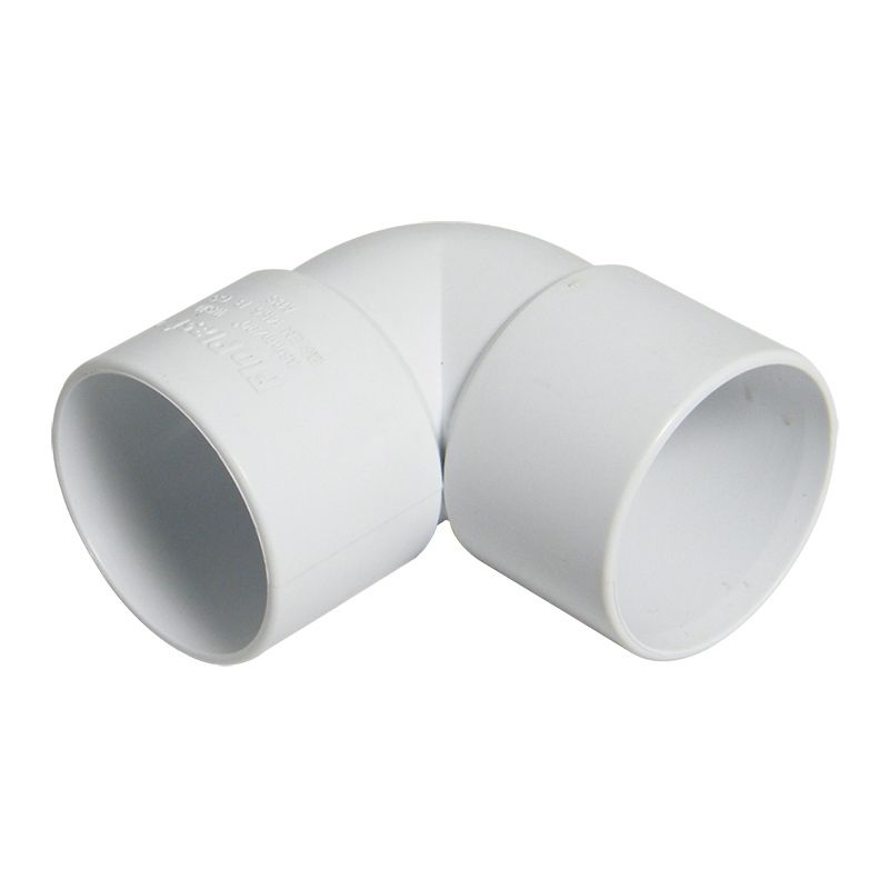 Solvent Weld Waste Bend Knuckle - 90 Degree x 40mm White