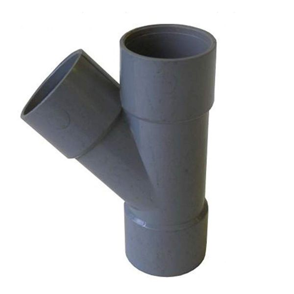 Solvent Weld Waste Branch - 135 Degree x 40mm Grey