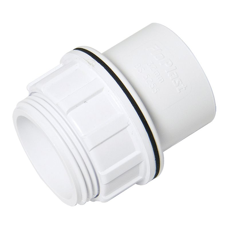 Solvent Weld Waste Tank Connector - 40mm White