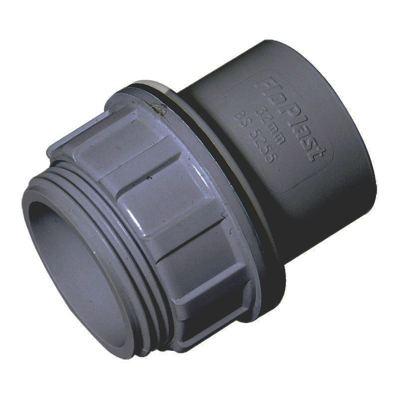 Solvent Weld Waste Tank Connector - 40mm Grey