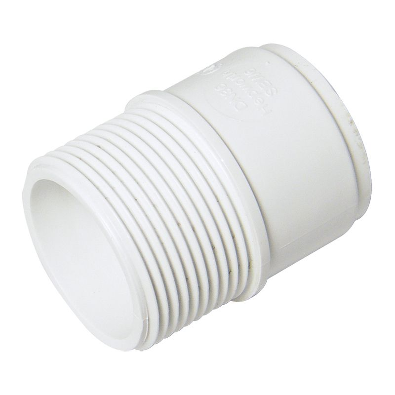 Solvent Weld Waste Iron Coupling Male - 40mm White