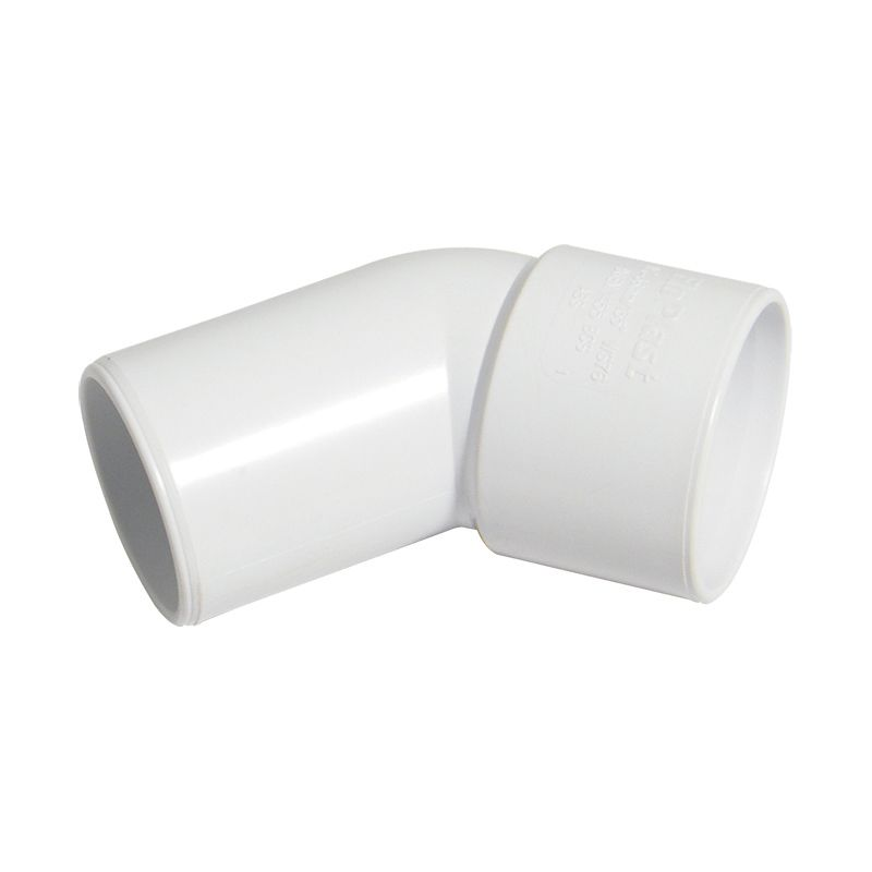 Solvent Weld Waste Bend Swivel - 135 Degree x 40mm White