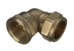 Compression Female Iron Adaptor Bent - 15mm x 1/2""