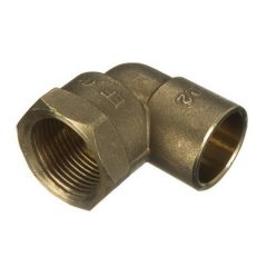 Solder Ring Female Iron Adaptor Bent - 15mm x 1/2""
