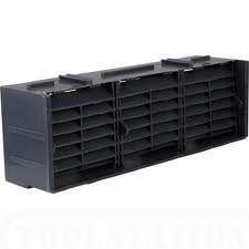 "Subfloor Ventilation Airbrick - 9"" x 3"" Blue/ Black"