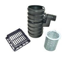 Yard Gully Set With Silt Bucket and Ductile Iron Grating - 12.5 Tonne x 300mm Diameter