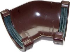 Mini Gutter Angle - 135 Degree x 76mm Brown