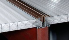 PVC Capped Rafter Bar Rafter Supported - 2.5mtr Brown