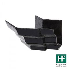 Cast Iron Moulded Ogee Gutter External Angle - 135 Degree x 100mm Black