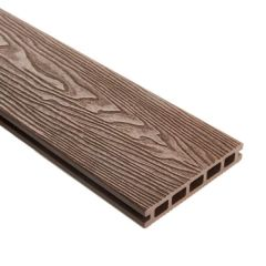 WPC Double Faced Decking Plank Brown - 25mm x 5000mm (L) x 148mm (W)