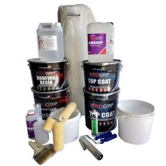 PRO GRP Roofing Kit - for 15SQM Roofs With Tools