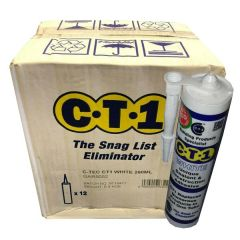 CT1 Sealant & Construction Adhesive - White 290ml - Box of 12