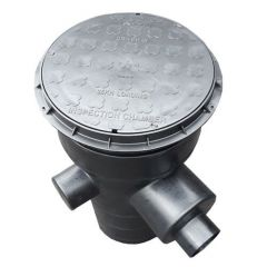 Soakaway Silt Trap C/W Catchpit & Filter With Lid - 600mm Deep x 300mm Diameter