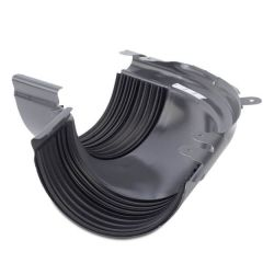 Steel Gutter External Angle - 135 Degree x 120mm Graphite Grey