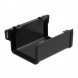 Square Gutter Large Union - 135mm Anthracite Grey