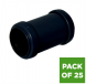 Push Fit Waste Coupling - 32mm Black - Pack of 25