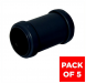 Push Fit Waste Coupling - 32mm Black - Pack of 5