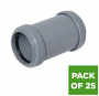 Push Fit Waste Coupling - 32mm Grey - Pack of 25
