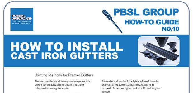 Cast Iron Gutter Installation